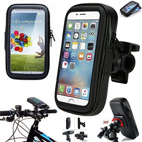 ICOOM Support Pour SmartPhone Waterproof Universel Fixation Guidon Moto, Vélo, Bicyclette, Cyclisme avec Étui Imperméable pour GPS, Apple,…