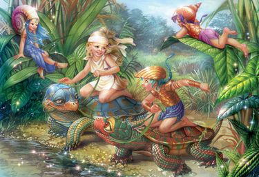 Turtle Pond Children's Jigsaw Puzzle   New Jigsaw Puzzles   Vermont Christmas Co. VT Holiday Gift Shop