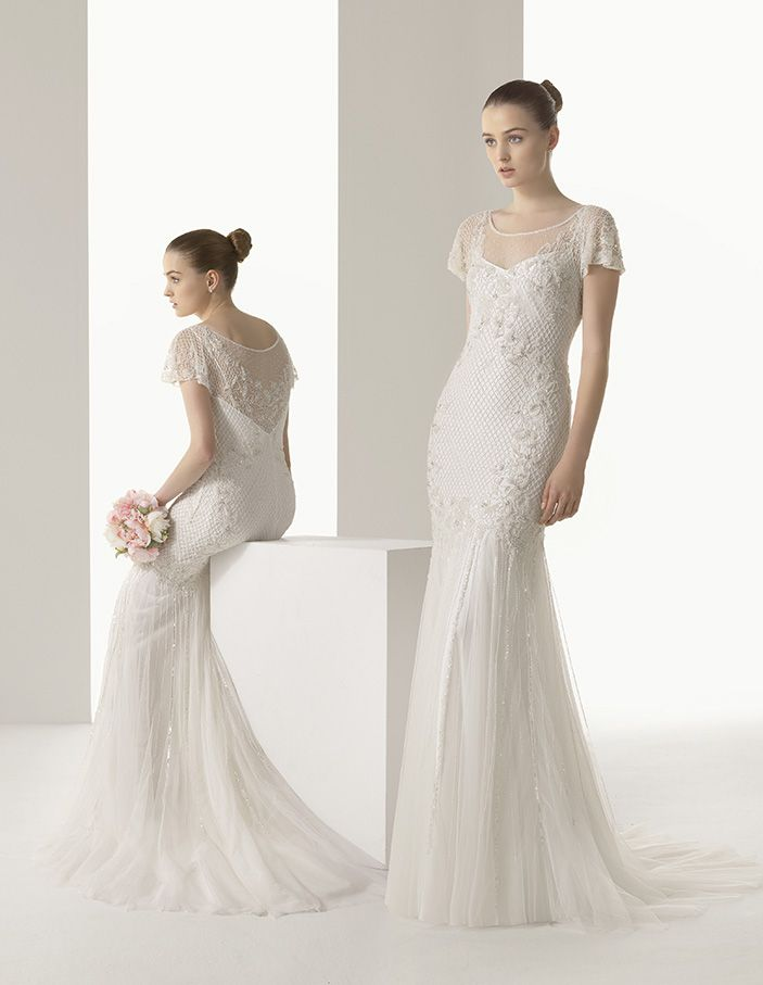 Trunk Show at Evas Bridal International, May 21-24.  By appointment (708)460-2200. Soft by Rosa Clará