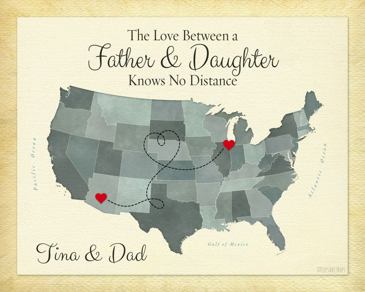 Best Gift For Dad From Daughter Part - 49: Long Distance Gift For Dad, Family Gift For Christmas, Father And Daughter  Quote, Father And Son Quote, Going Away Gift Idea