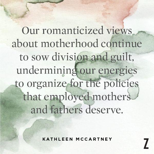 Journalist Kathleen McCartney, from an article in The Boston Globe