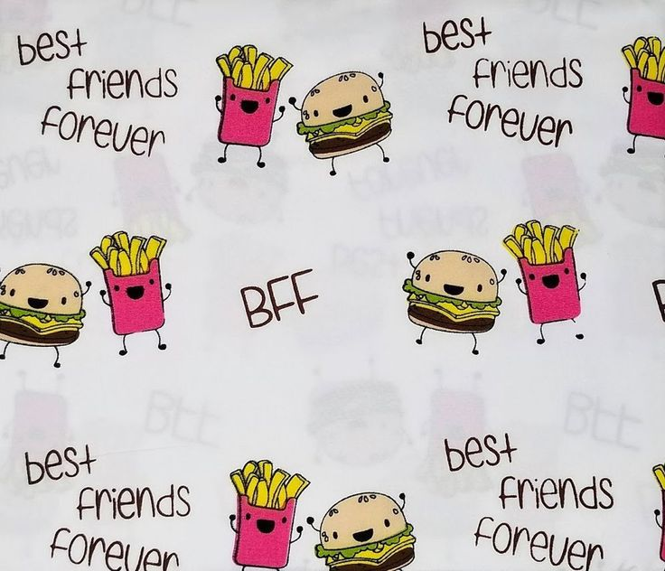 Kids Rule BFF Best Friends Forever Hamburger and Fries 3 Piece Twin Sheet Set #KidsRule #BestFriendsForever #BFF #childrensroom #BFFSheets