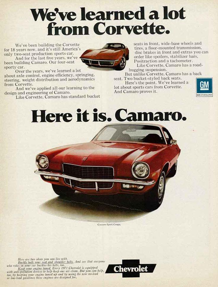1971 Chevrolet Camaro - I had two 1971 Camaro Z28's in my youth.