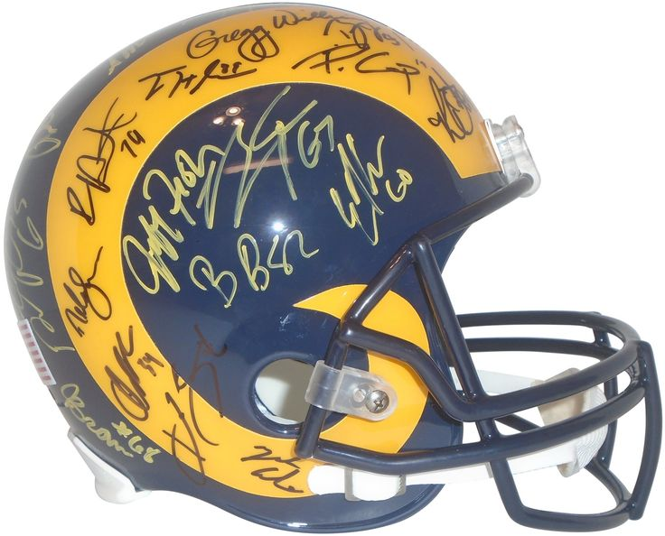 2016 Los Angeles Rams Team Autographed Throwback Style Riddell Full Size Football Helmet. This is a brand-new 2016 Los Angeles Rams team signed throwback style Riddell full size deluxe replica football helmet.  The following Rams signed the helmet in yellow paint pen (or black sharpie): Head Coach Jeff Fisher, Robert Quinn, Benny Cunningham, Kenny Britt, Lance Kendricks, Tyler Higbee, Brian Quick, Johnny Hekker, Quinton Coples, Greg Zuerlein, Pharoh Cooper, Mike Thomas, Sean Mannion, Bradley…