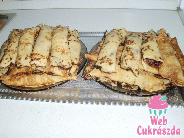 Apple Cinnamon Crepes with Walnut Filling