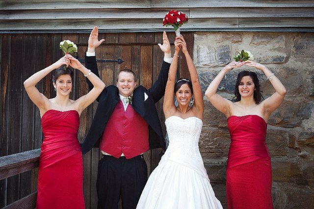 Scarlet and Gray Wedding by The Ohio State University, via Flickr