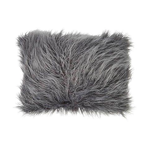 Zsa Zsa Faux Fur Cushion - Grey