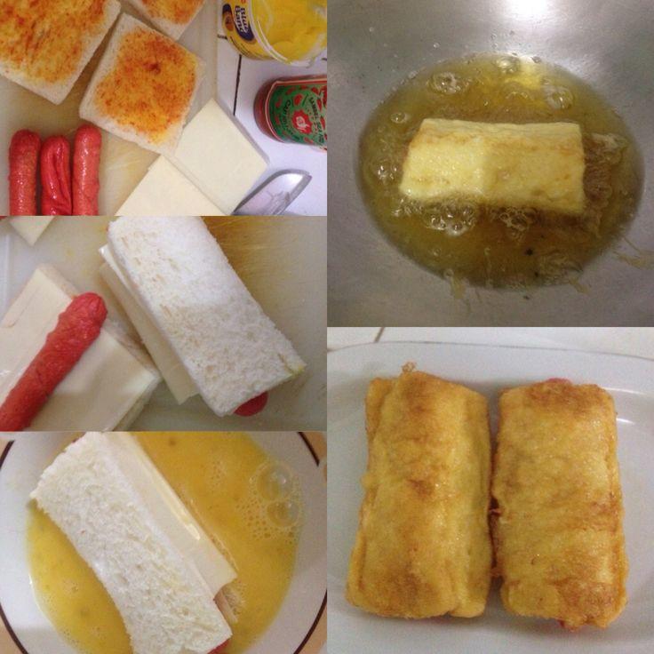 Roti Goreng Sosis Keju