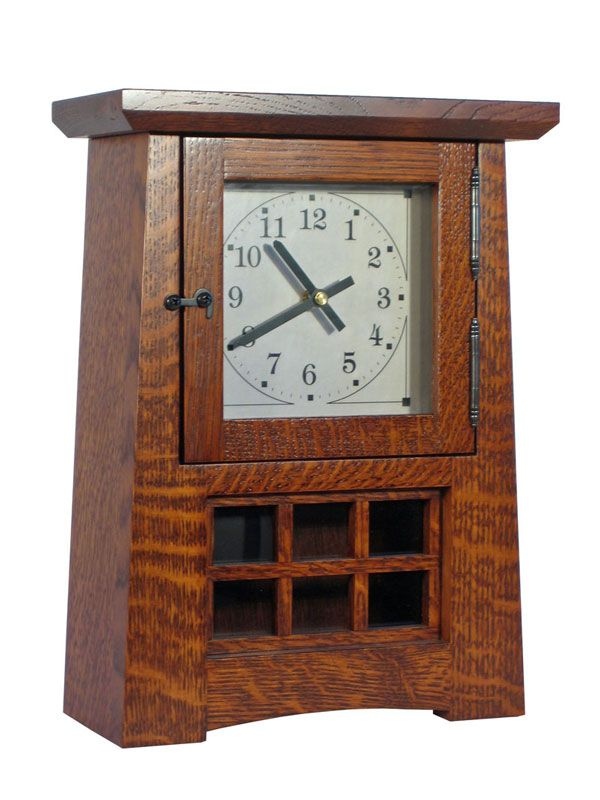 Stickley mantel clock plans woodworking projects plans for Arts and crafts mantle clock