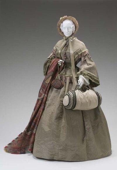 Day dress, 1855- 1865