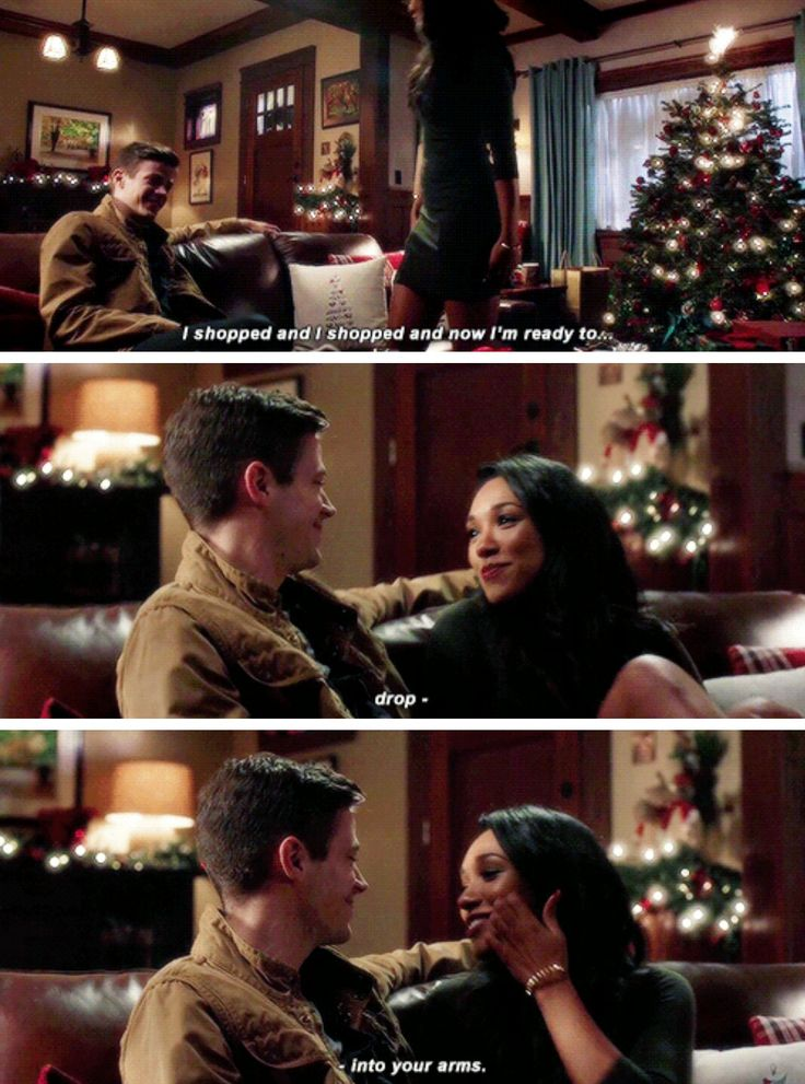 """I shopped and now I'm ready to drop into your arms"" - Iris and Barry #TheFlash"