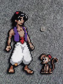 Aladdin & Abu Disney Perler Beads