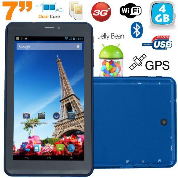 Tablette tactile 3G 7 pouces Dual SIM Android 4.2 Dual Core Bleu. http://www.yonis-shop.com/tablette-7-pouces-3g/2423-tablette-tactile-3g-7-pouces-dual-sim-android-4-2-dual-core-bleu-4go.html