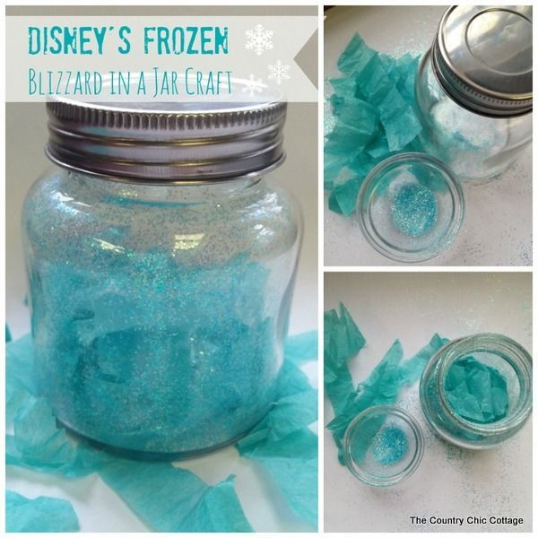 Blizzard in a Jar craft - #Frozen - A Little Craft in Your Day