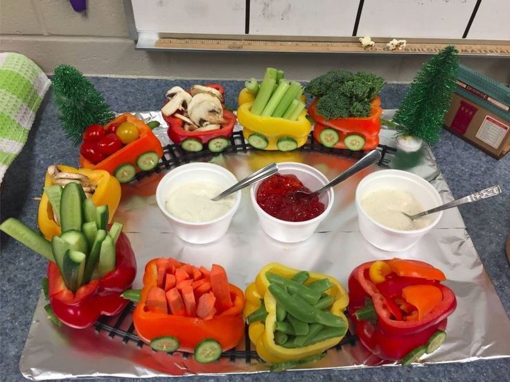Great idea for a make-your-own salad buffet or taco bar. Make those healthy veggies irresistible.