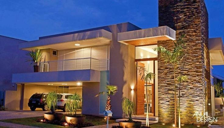 Decor Salteado - Blog de Decoração | Arquitetura | Construção | Paisagismo: Fachadas de casas modernas – veja modelos com vidro, telhado embutido e muito mais!