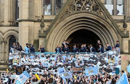 Man City FA Cup celebrations.