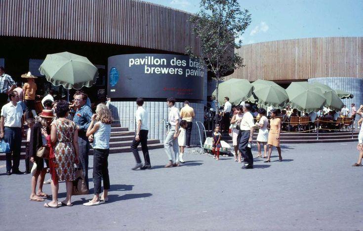 Le Pavillon des Brasseries.à l'Expo 67.  Montréal, Québec.  The Brewers of Canada Pavilion (Expo 67)