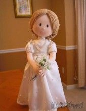 Принцесса. Скульптурно-текстильная кукла