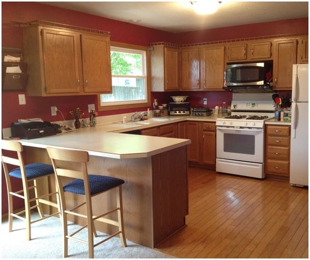 Best Kitchen Paint Colors With Oak Cabinets: Kitchen Paint Colors With Oak Cabinets And White