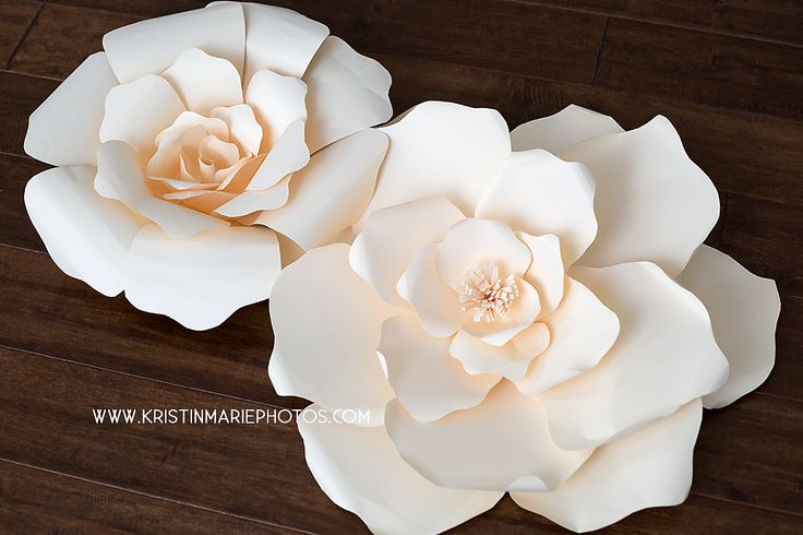 These giant paper flowers are great for putting together in a large grouping to make a backdrop for photos or a wedding. The template and video I have made is to create the flower pictured in the 2nd photo and the left flower on the 3rd photo. The first photo is another flower design i came up…