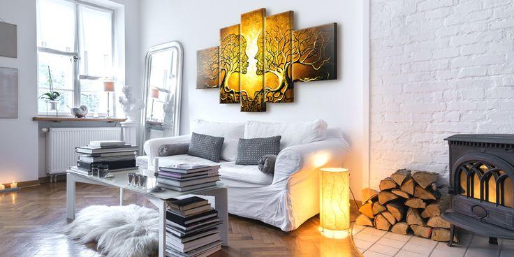 Ten obraz pięcioczęściowy świetnie pasuje do mieszkania w modnym stylu hygge - ociepla je, rozjaśnia i podkreśla jego przytulną atmosferę ❤