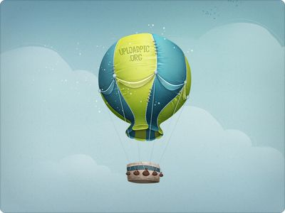 Hot Air Balloon Illustration - Web Design By Dtailstudio.Com