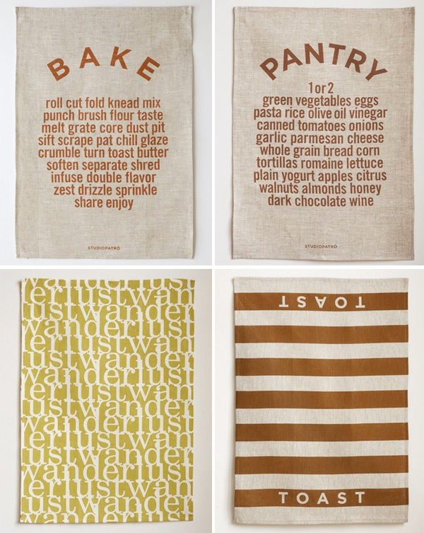 tea towels from @studiopatro - use cloth not paper :) $24 - thanks @katetx32 i love them :) can't wait!