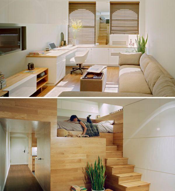 Departamentos peque os de lujo buscar con google - Diseno de interiores dormitorios pequenos ...