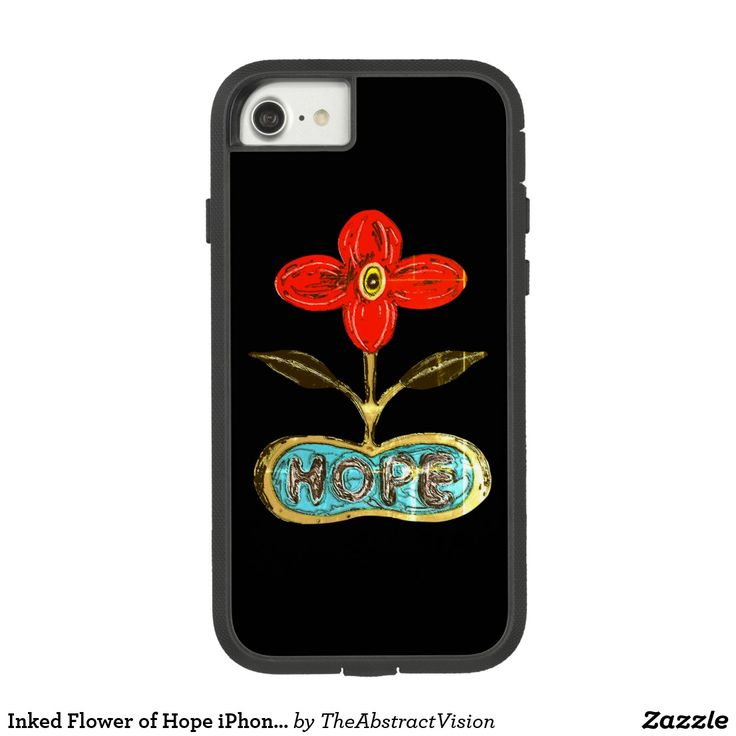 Inked Flower of Hope iPhone 7 Case.