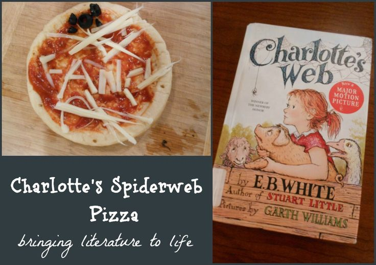 After reading Charlotte's Web by E.B. White, bring the story to life with this book activity! Make Charlotte's spiderweb pizza.