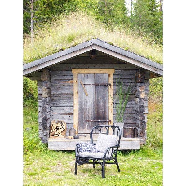 Fåtölj Java 61x83x80 cm Svart Rotting - Trädgårdsstolar - Rusta