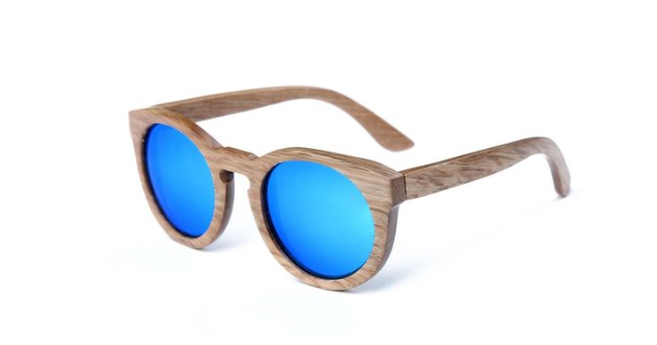 $42 - Wooden/Bamboo Rounded Frame Fashion Sunglasses
