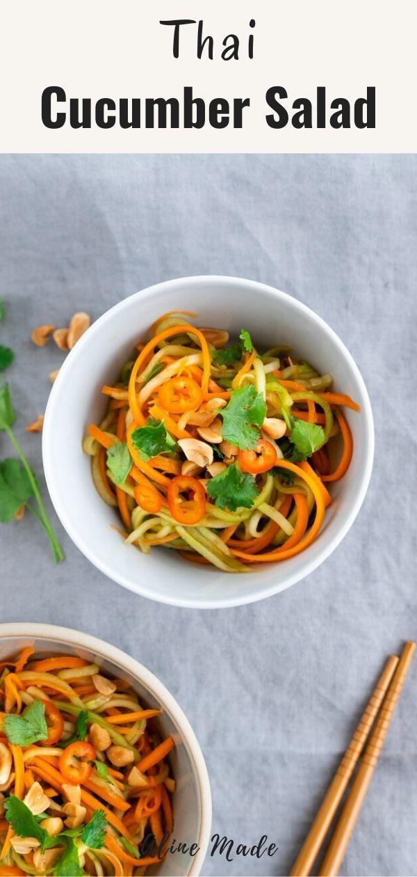 Thai Cucumber Salad Cucumber Salad Authentic Asian Recipes Asian Cucumber Salad
