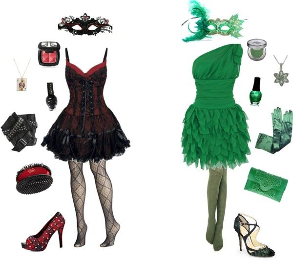 """""""Harley Quinn and Poison Ivy-DC Comics"""" by conquistadorofsorts on Polyvore"""