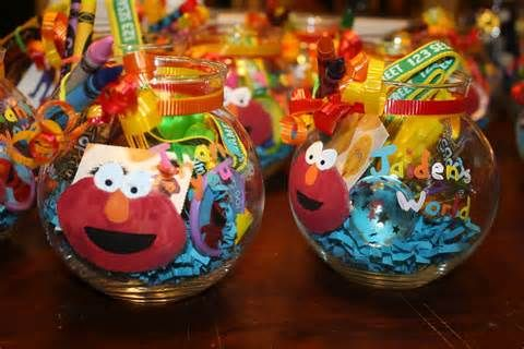 Image detail for -Elmo Party Favor Goldfish Jars Dorothy Sesame Street Red Aqua Decor ...