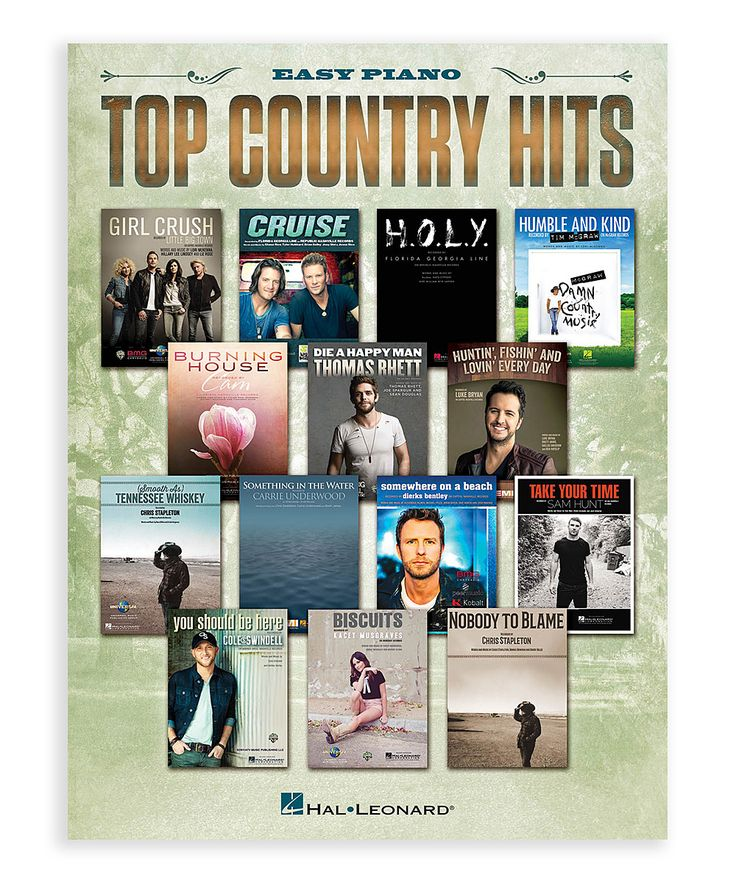 Top Country Hits Sheet Music