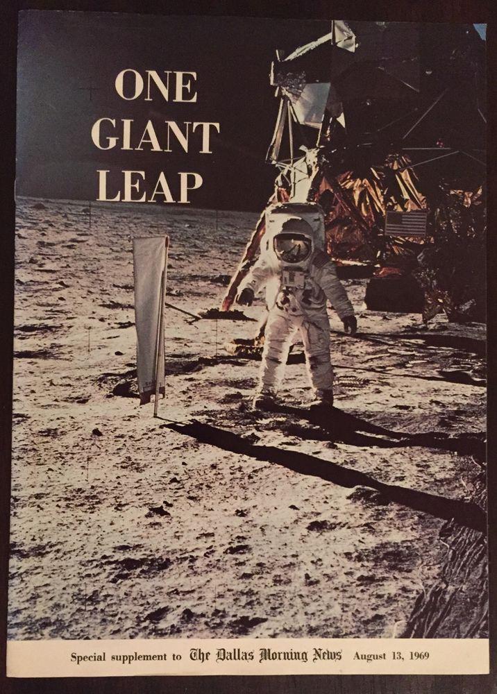 ONE GIANT LEAP APOLLO 11 Moon Landing Aug 13 1969 Dallas Morning News Supplement