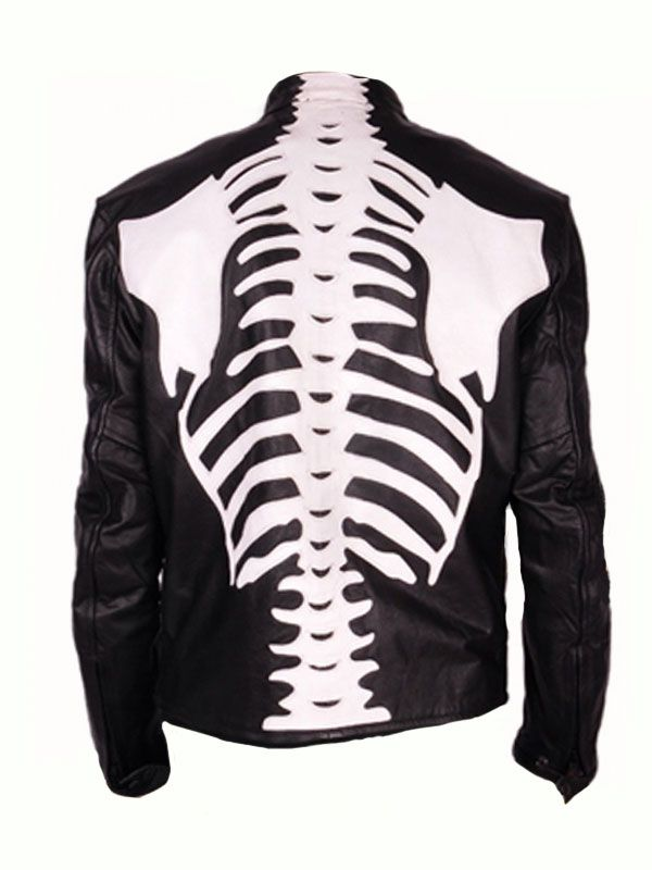 Our Store Presents Skeleton Sketch Mens Black Motorcycle Jacket and Coat Collection Is Available Now With Free Shipping All Over The World.