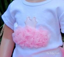 Chic Baby Rose fluffy ballerina top - handmade in the USA.