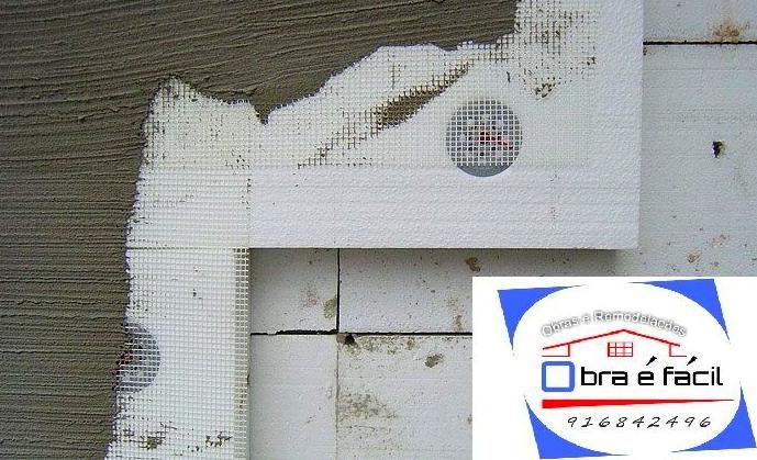 Isolamentos termicos (capoto) exterior,regularização das paredes.: Produtos e Serviços de Obra É Fácil