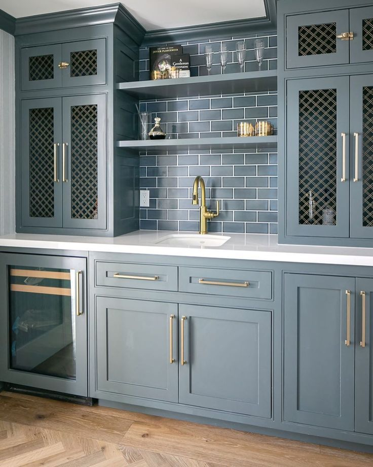 Grey Blue Paint Colors Ideas For A Tranquil Mood Hello Lovely Blue Gray Kitchen Cabinets Grey Blue Kitchen Dark Blue Kitchens
