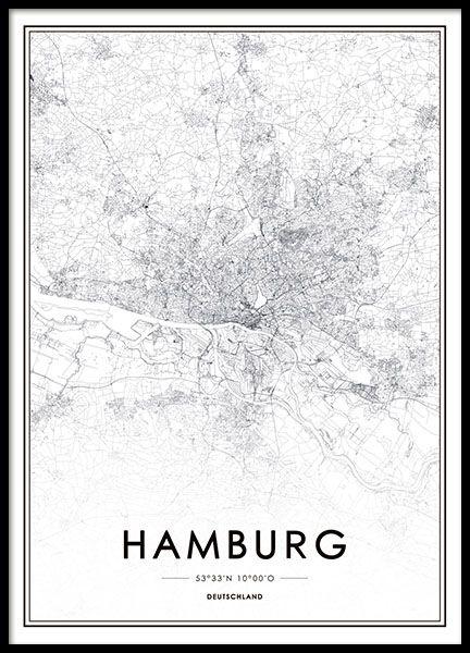 Schöne Hamburg-Karte