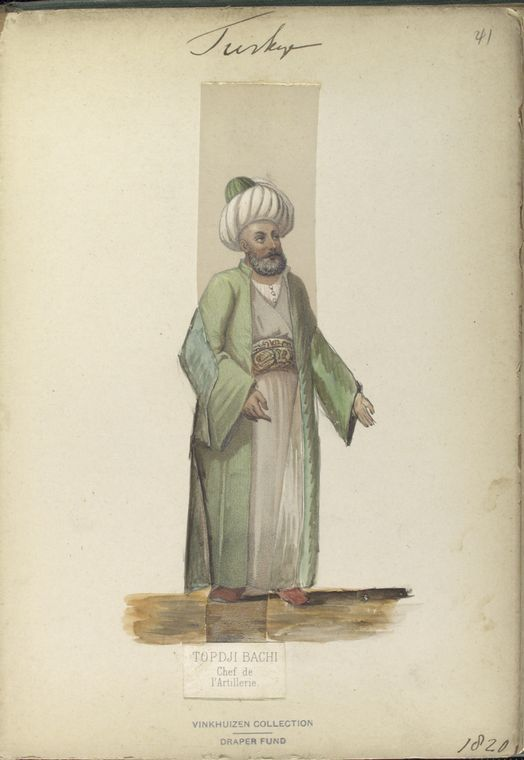 Chief of Artillery. The Vinkhuijzen collection of military uniforms / Turkey, 1818. See McLean's Turkish Army of 1810-1817.