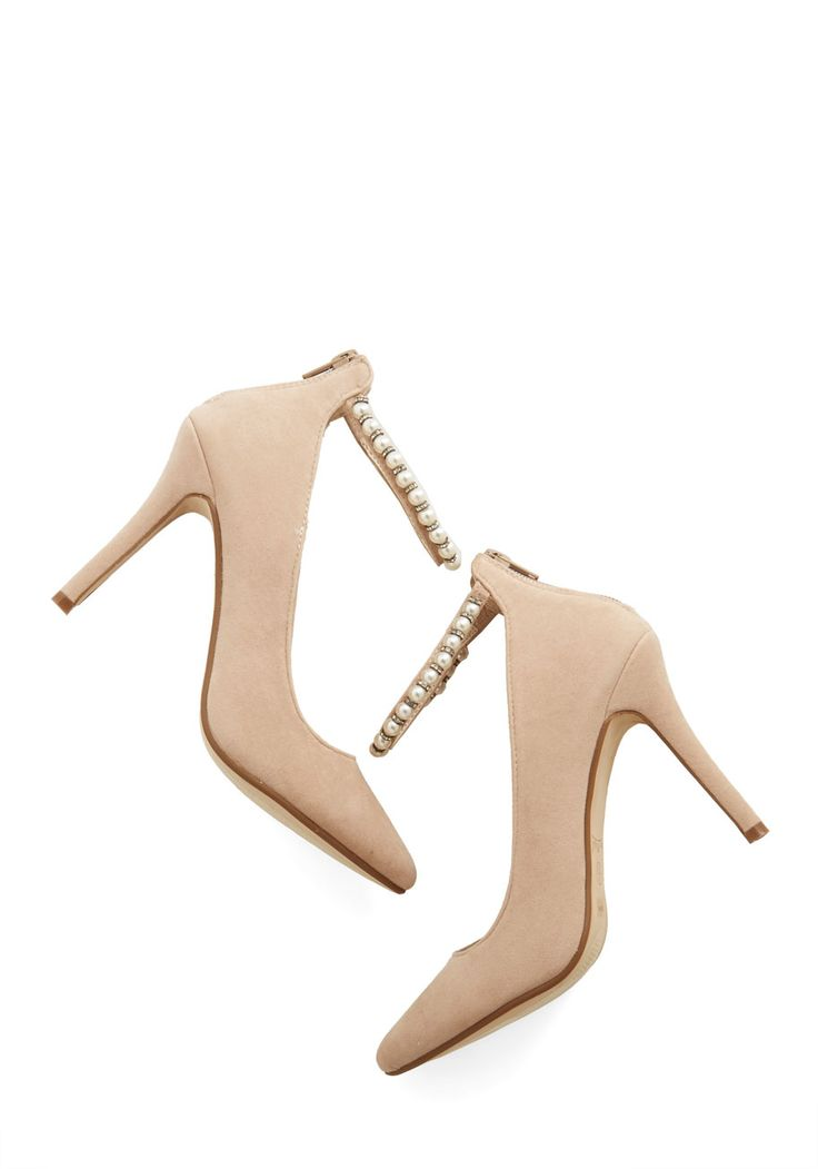 Accessorize to Fame Heel - High, Tan, Solid, Pearls, Special Occasion, Prom, Wedding, Party, Girls Night Out, Holiday Party, Bridesmaid, Bride, Luxe, Darling, Good