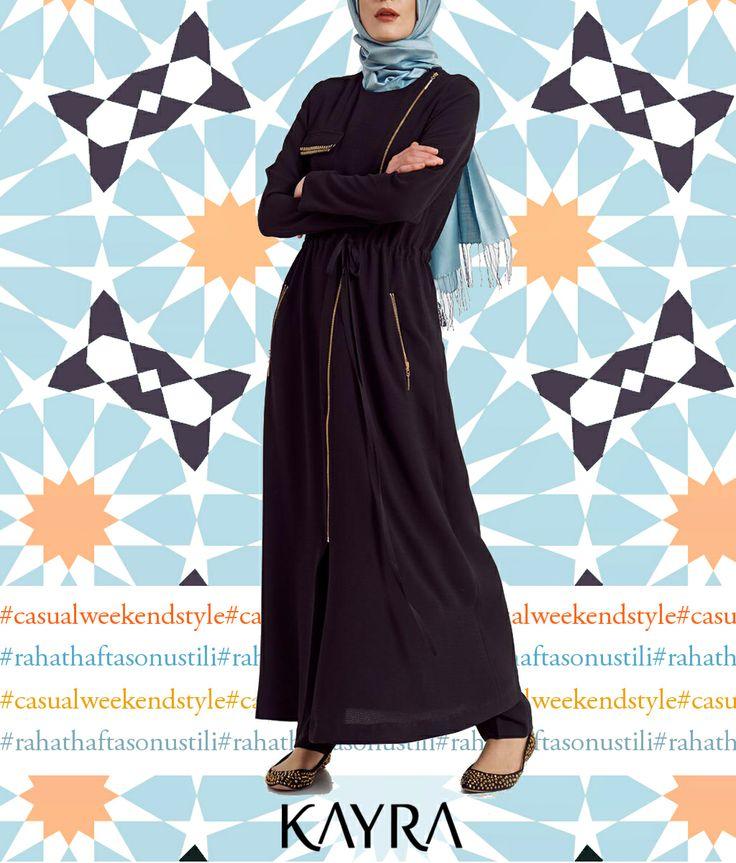 Hafta sonunda hem rahat olmak hem şık görünmek istiyorsan, bu ferace tam sana göre; http://www.kayra.com.tr/p/4813/b4-25015-ferace-siyah The weekend is all about being comfy, but you still want to look cute, what about to get an abaya?
