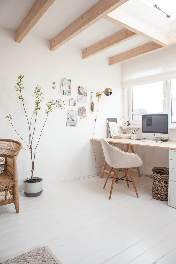 Gravity Home: Light Attic Home Office Of Interior Stylist Holly Marder