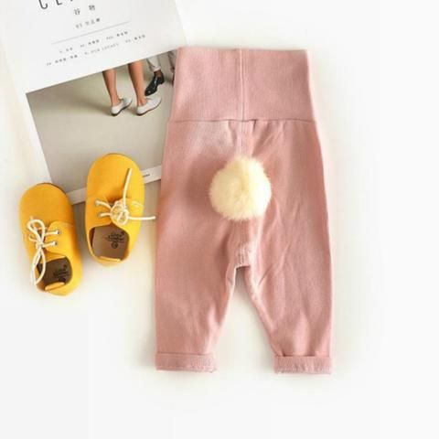 Baby Cotton Warm and Comfortable Cute Tail Ball Trousers