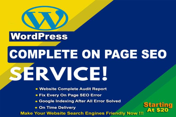 Smartit69 I Will Do Complete On Page Seo For Wordpress Website For 10 On Fiverr Com On Page Seo Fiverr Yoast Seo