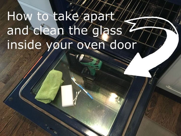 how to clean self-cleaning oven glass door